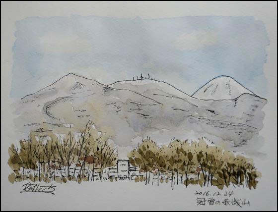 冠雪の赤城山