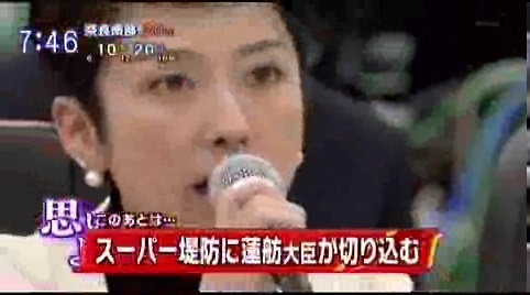 蓮舫 事業仕分け スーパー堤防事業を廃止