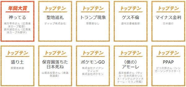 「日本死ね」で山尾志桜里が受賞!ユーキャン・前原誠司は祝福・つるの剛士は悲しむ・大量ガソリン