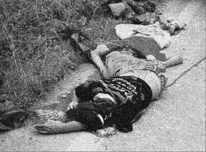 女子中学生2人の事故現場の写真。イ・ヨンナム氏撮影。