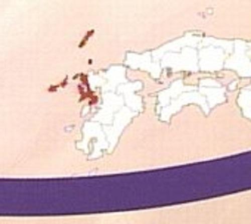 赤い部分(長崎県)が消えていた報道ステーション
