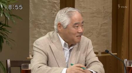 TBS「サンデーモーニング」岸井成格「(笑)考えてみればね!日米会談で北朝鮮の核ミサイルは大きな議題でしたから!それに対する皮肉を言えば、祝砲をあげたっていう、ふふふっ(笑)!」