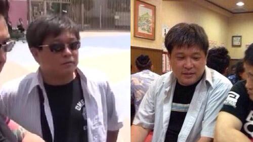 左端;添田、右端:松本、真ん中は誰~だ?