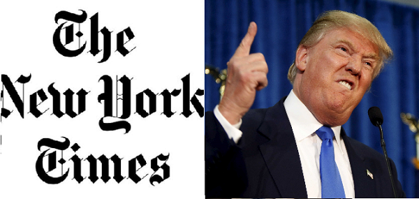 NYタイムズは、大統領選でトランプの過去の課税逃れの可能性を指摘したり、性的嫌がらせを受けたと訴える女性らの証言を紹介したりしてトランプを厳しく追及し、徹底的に叩いた。
