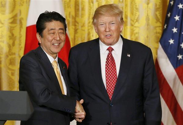安倍晋三首相「尖閣は日米安保の適用範囲であることを確認」「日米同盟の絆は揺るぎない」 共同記者会見で表明