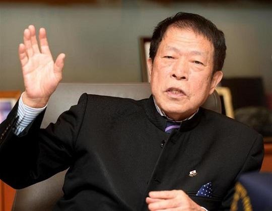 アパホテルグループ代表の元谷外志雄氏=東京都港区
