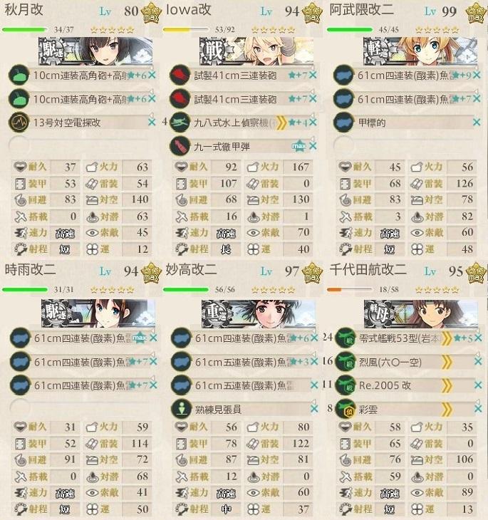 E4編成戦力破壊2