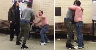【Fight!】小さい男が大男を地面に叩きつけた!最後は・・・・・