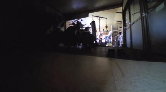 清掃後のガレージ(居住スペースから見た状態)