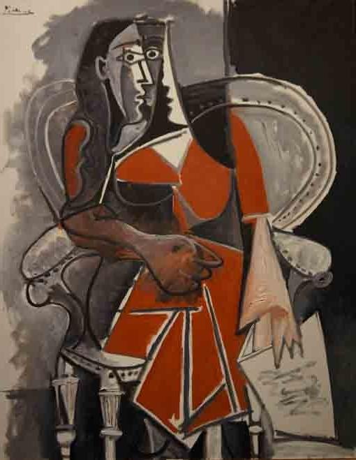 20170110 ピカソ 坐る女性 1960 18㎝ DSC03444