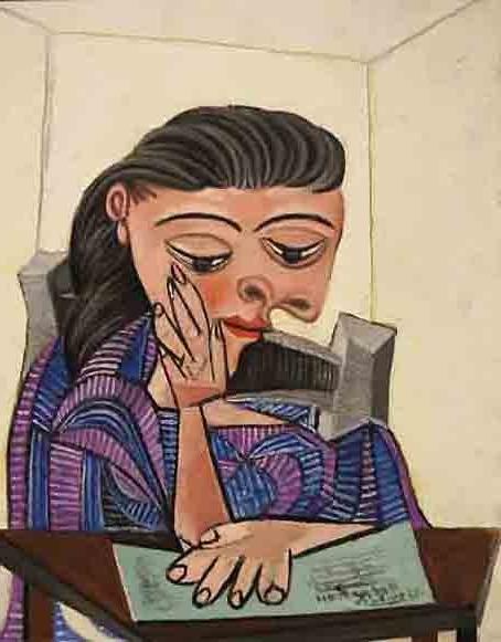 20170110ピカソ 読書する女性 1936 16㎝ DSC03448