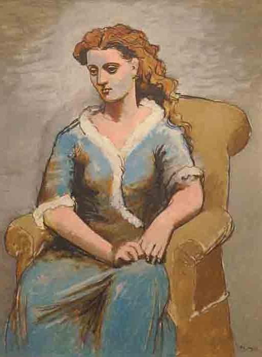 20170110ピカソ 肘掛椅子の女性 1923 18㎝ DSC03450