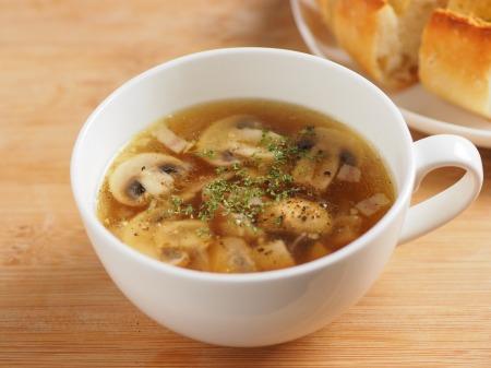 マッシュルームガーリックスープ13