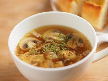 マッシュルームガーリックスープ19