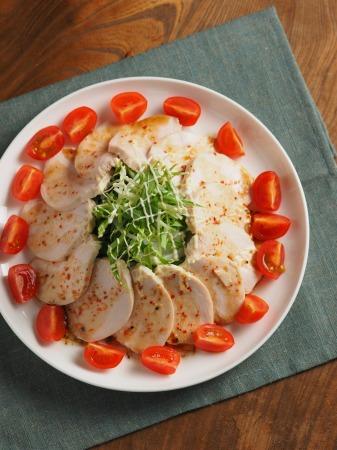 蒸し鶏七味ぽん酢ソース22