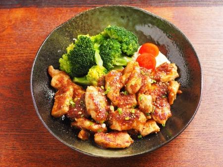 鶏むね肉の生姜焼き25