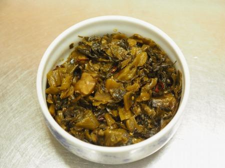 マテ貝の高菜炒め03