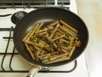 マテ貝の高菜炒め04