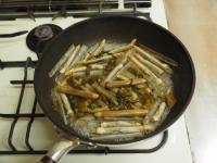 マテ貝の高菜炒め06