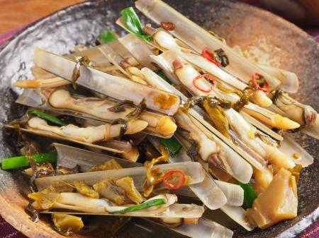 マテ貝の高菜炒め19