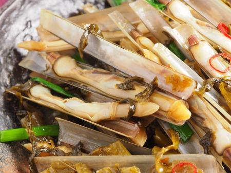 マテ貝の高菜炒め17