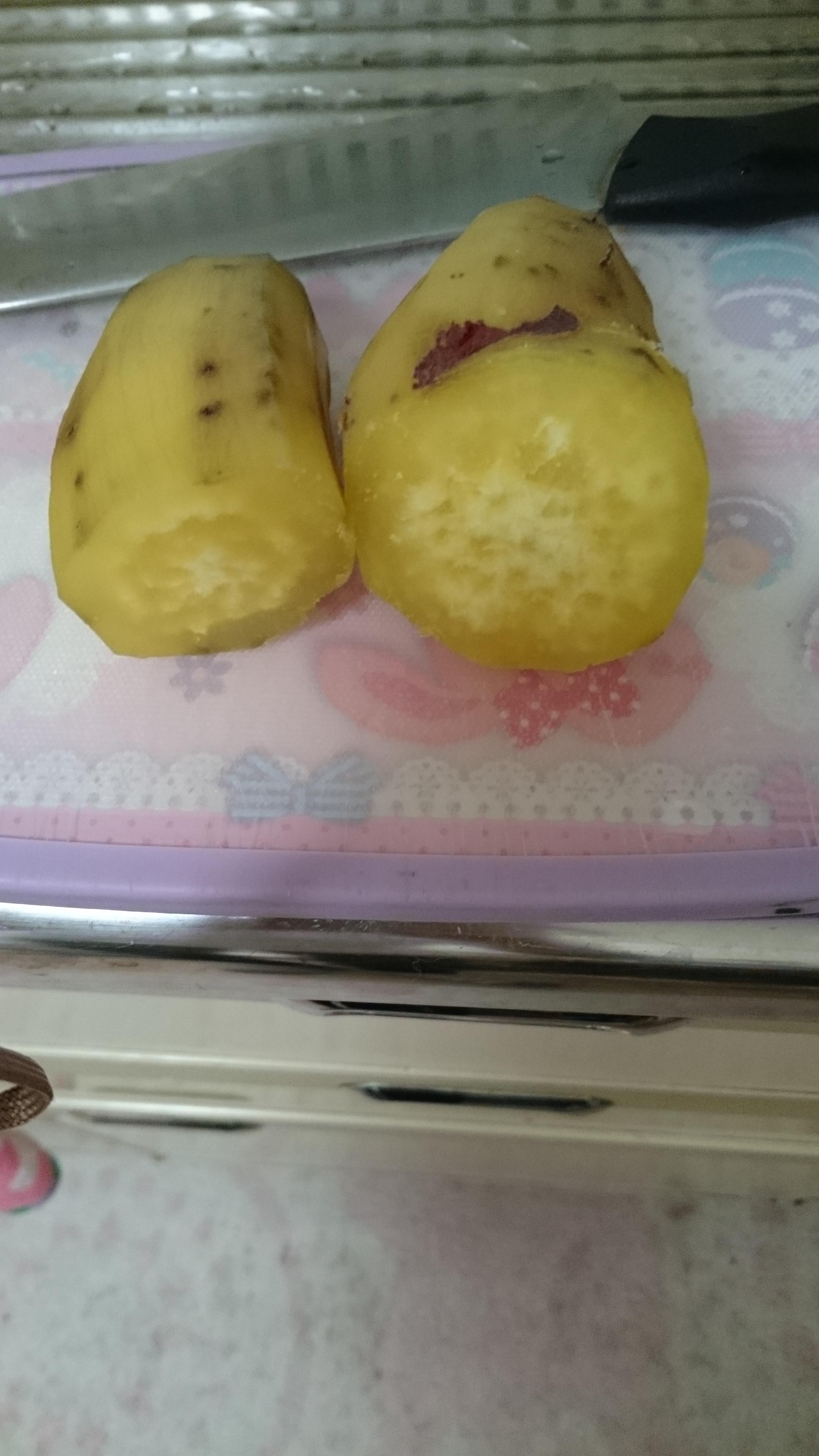蒸したサツマイモ