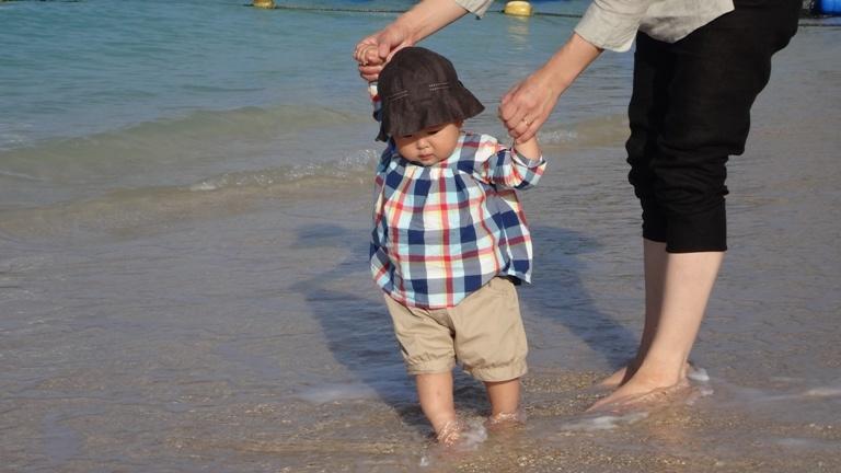 海岸を歩いたよ