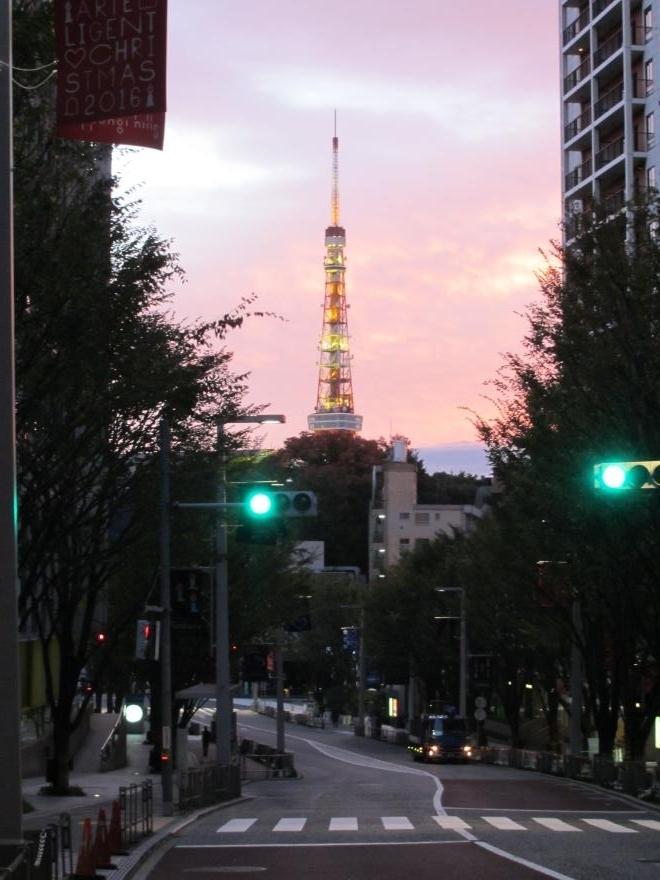 けやき坂と東京タワー
