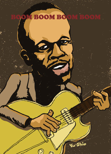 John Lee Hooker caricature