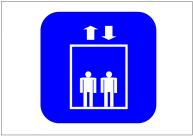 エレベーターの標識テンプレート・フォーマット・雛形