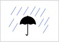 雨のフリー素材テンプレート・画像・イラスト