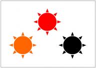 太陽のフリー素材テンプレート・画像・イラスト