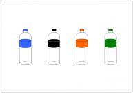 ペットボトルのフリー素材テンプレート・画像・イラスト