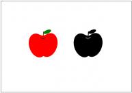 りんごのフリー素材テンプレート・画像・イラスト