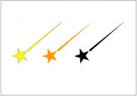 流れ星のフリー素材テンプレート・画像・イラスト