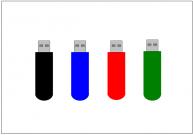 USBメモリのフリー素材テンプレート・画像・イラスト