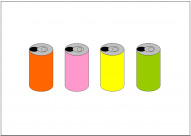 缶ジュースのフリー素材テンプレート・フォーマット・雛形