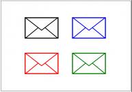 メール(Mail)のフリー素材テンプレート・フォーマット・雛形