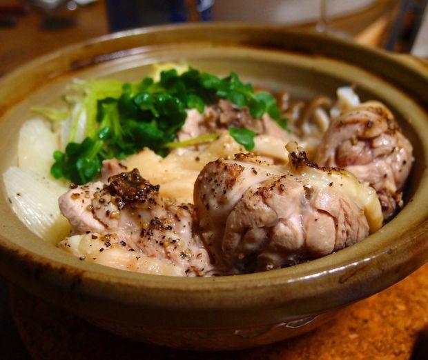 鶏の酒蒸し鍋①