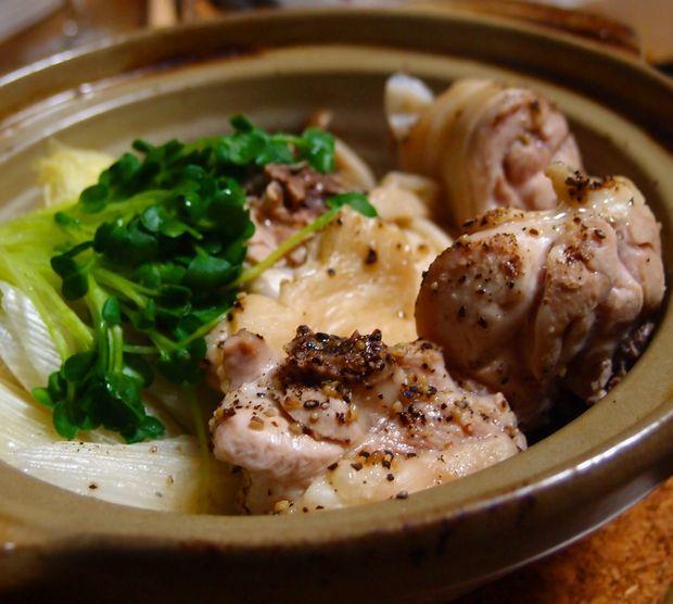 鶏の酒蒸し鍋②