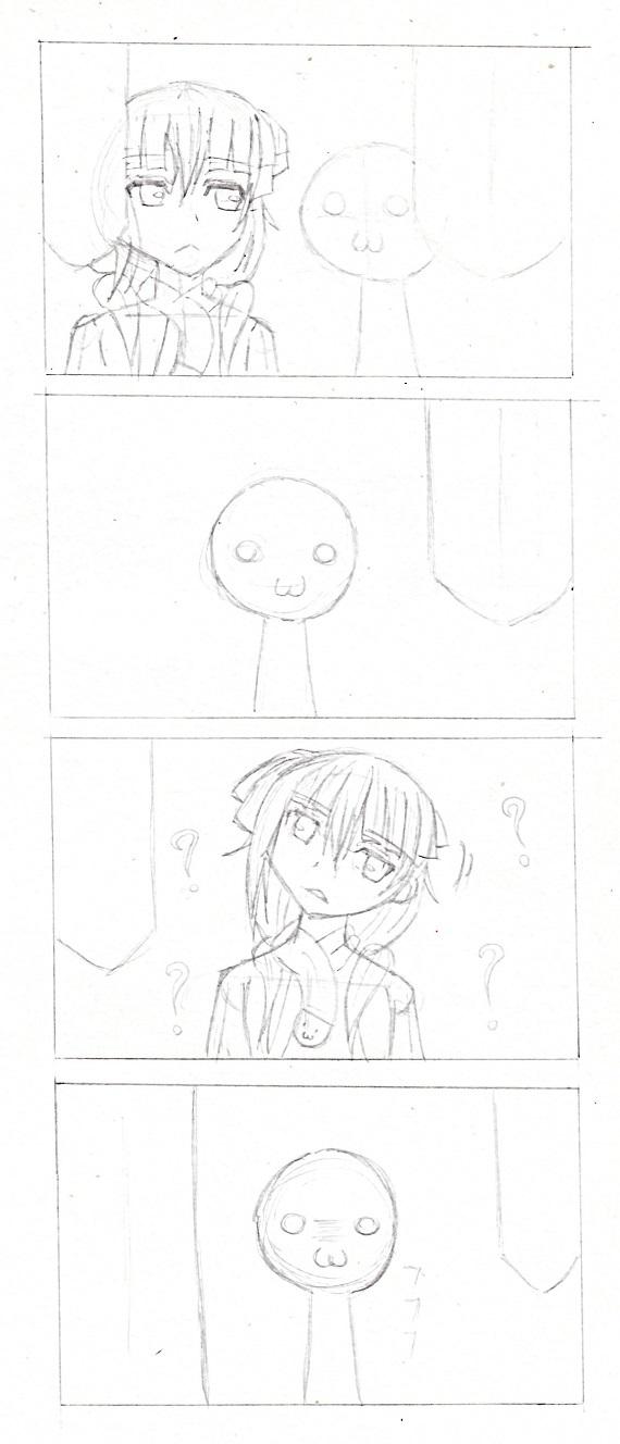 4コマ漫画 今日ものんびりと 2016/12/20