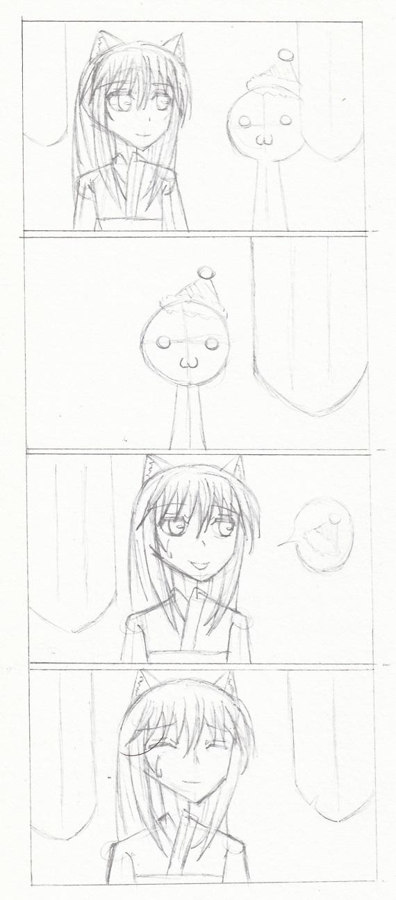 4コマ漫画 今日ものんびりと 2016/12/23