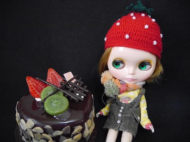 イチゴの帽子