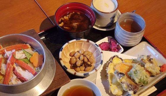 161202松葉ガニ釜めし天ぷら膳