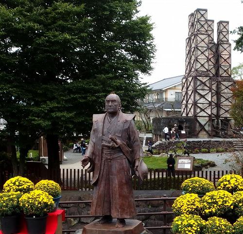 161023韮山反射炉と江川太郎左衛門像