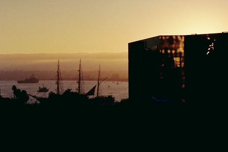 ホテルからサンディエゴ港