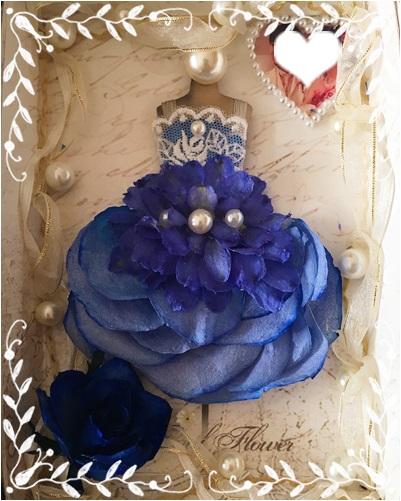 ブルーのドレス 1