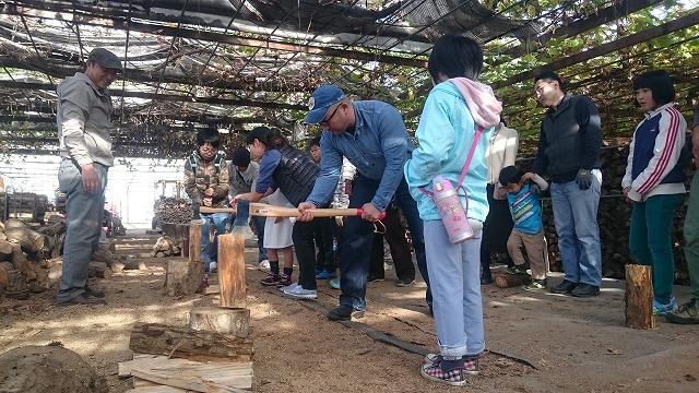 12/4日曜日は薪作りイベント♪