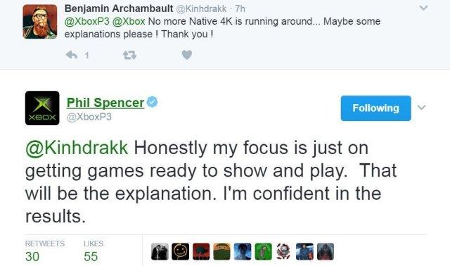 boxボスPhil Spencerが、Xbox Scorpioでネイティブ4Kで再生されるゲームを確認2