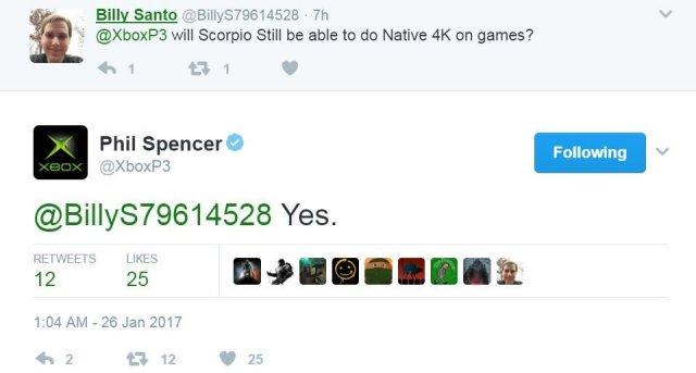 boxボスPhil Spencerが、Xbox Scorpioでネイティブ4Kで再生されるゲームを確認1